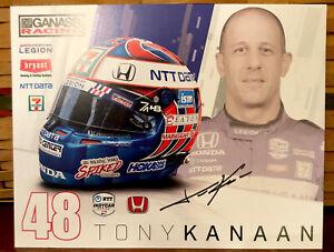 2021 TONY KANAAN INDIANAPOLIS INDY 500 CAR Postcard  HEROCARD SIGNED
