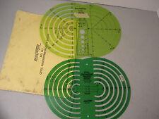 Berol RapiDesign Drafting - Civil Engineers Radius Guide R-127 and R-2127