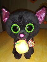 0f3b994f2e4 New TY Beanie Boos POTION the Black Cat Green Glitter Eyes Pumpkin 9