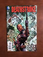 Deathstroke #11 (2015) 9.2 Man DC Key Issue Comic Harley Quinn Suicide Watch