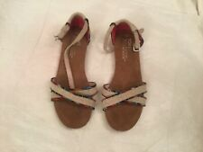Toms Women's Sand Textile Strappy Ankle Strap Flat Sandals Us Size Y5