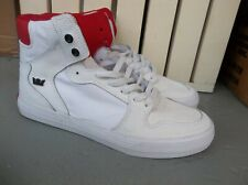 NWT MEN'S SUPRA VAIDER (LEATHER/TEXT) SNEAKERS/SHOES SIZE 9.BRAND NEW FOR 2020!