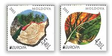 MOLDOVA - EUROPA 2011 - FORESTS SET OF 2 STAMPS MINT UNHINGED MUH