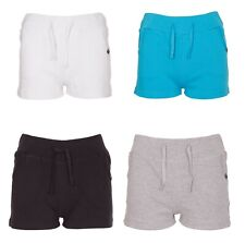 New Womens Ladies Girls Fleece Jersey Tie Casual Summer Holiday Shorts Hotpants