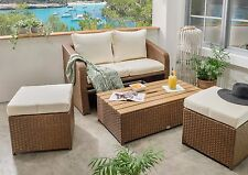 Destiny Lounge Jersey Tri Gartenmöbelset Loungeset 4teilig Sitzgruppe Polyrattan
