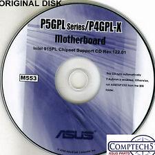 ASUS GENUINE VINTAGE ORIGINAL DISK FOR P5GPL Motherboard Drivers Disk M553