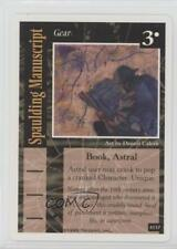 1995 On The Edge #A137 Spaulding Manuscript Gaming Card k0w
