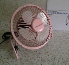"PRO-ELEC Pink 4"" Mini USB Desk Fan (155x85x160mm)...PC/Laptop/Wall Chargers etc"