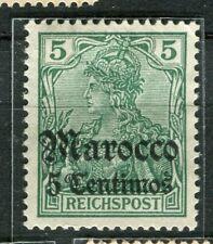 GERMAN COLONIES; MAROKKO early 1905 Wmk. issue Mint hinged 5c. value