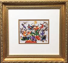 "DAVID SCHLUSS ""The Wedding"" NEWLY CUSTOM FRAMED Art Print ISRAELI Judaica"