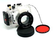 60M 195ft Underwater Diving Waterproof Housing Case for Sony RX100 III 18-55mm