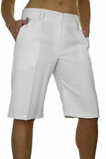 New (1492-2) Ladies Smart Casual Washable Tailored Shorts White Size 8-20