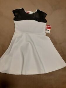 Bongo Black And White Dress Girls Sz 7/8 NWT
