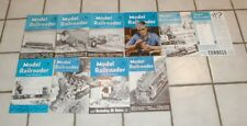1946 10 Issues Full Year Model  Railroader Magazines Really Nice Issues