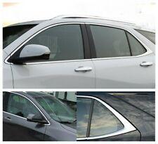 Steel 12PCS For Chevrolet Equinox 2018-2020 Chrome Car Window Strip Cover Trim