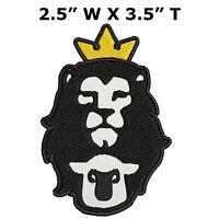 "#2334 8/"" Royal Crown,Lion,Horse w//ROYAL word Embroidery Iron On Applique Patch"