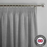 Light Grey Made To Measure Curtains - Luxury Lined Thick Curtain -Made in the UK
