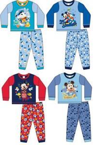 Baby Boys Disney Pyjamas Mickey Mouse 6-24 months Toddler Pyjama Set FREE UK P&P