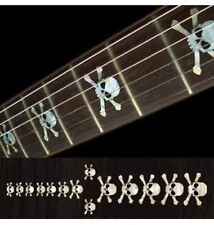 Skull white silver Fret Markers Inlay Sticker Decal Guitar
