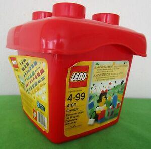 LEGO CREATOR 4103 RED BUCKET COMPLETE W/200 PCS - 2003