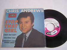 EP 4 TITRES VINYL 45 T , CHRIS ANDREWS , STOP THAT GIRL , VOGUE 18 082 .