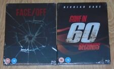 Face Off & Gone in 60 Secondes (2 blu-rays) Steelbook. NEW & SEALED (Zavvi UK).