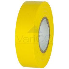 5 X YELLOW ELECTRICAL PVC INSULATION TAPE FLAME RETARDANT 19mm X 20M