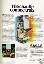 Publicité advertising 1981 La Cheminée Supra