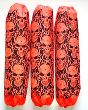 Shock Protector Covers Polaris Pro R Pro X Orange Skulls Snowmobile Set of 3