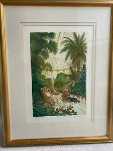 FRANK MARTIN WINTER GARDEN SIGNED ETCHING IN COLOUR NUMBERED 118/150