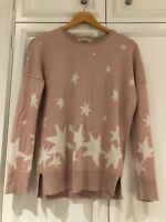 Maison de Nimes Jumper - Size: S - Colour: pink with light shimmer+ white stars
