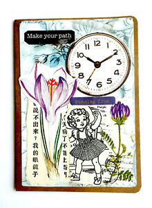 Hand Made Collage Cover Small Travelers Notebook Craft Memory Diary