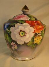 Antique Noritake Lidded Porcelain Vase, Cookie or Cracker Jar.