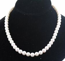 Mikimoto Blue Lagoon 7.5-8.0mm Pearl 18 inch Long Necklace 14k WHITE GOLD Clasp
