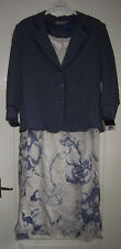Gold By Michael H  - Mid Blue & White 2 Piece Jacket & Dress New With Tags UK16