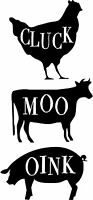 Country Farm Animals, Farm Kitchen Decor, Rustic, Primitive Vinyl Decals set