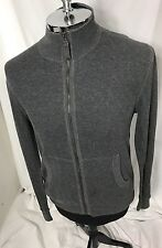 Hugo Boss Orange Men's Gray Zip Up Waffle Sweater Size M