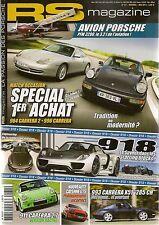 RS MAGAZINE 131 PORSCHE 918 SPYDER 997 CARRERA CABRIOLET BLACK EDITION 996 GT3