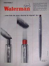 PUBLICITÉ 1964 WATERMAN STYLO A BILLE FLAIR AUTO SIGNAL NOUVEAU FÊTE DES MÈRES