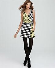 Diane von Furstenberg Moriko V-Ausschnitt Print Kleid 8 US