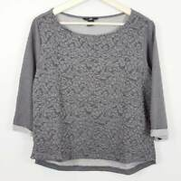 H&M | Womens Grey 3/4 Sleeves Top  [ Size S or AU 10 / US 6 ]