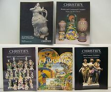Lot of 5 Fine Continential Ceramics Christie's Auction Catalogs Lot 19