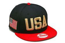 "New Era ""USA"" Snapback Hat Navy/Red/Gold For jordan retro 6 7 olympic foamposite"