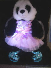 "Build A Bear Panda 15"" Plush Panda came all dressed up an pink  cute Dress"
