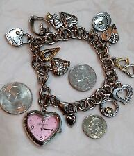 BRIGHTON  Live For The Moment   BREAST CANCER AWARENESS CHARM BRACELET WATCH