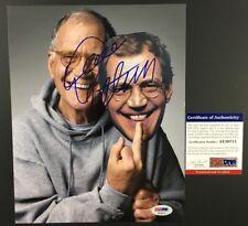 DAVID LETTERMAN SIGNED AUTOGRAPHED 8X10 PHOTO LATE NIGHT SHOW TV NETFLIX PSA DNA