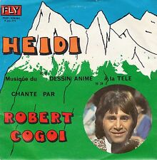 "45 T SP   B.O DESSIN ANIME TV  ""HEIDI""  (ROBERT COGOI)  (MADE IN BELGIUM)"