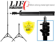 190cm Soporte de luz de metal fuerte portátil para Speedlight Flash Iluminación De Estudio