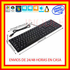 Teclado en Español con cable USB IMPERMEABLE /PC Wired Keyboard con letra Ñ