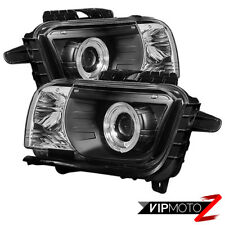 2010-13 Chevy Camaro SS Black Halo Projector Headlight Lamp Left+Right Assembly
